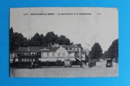 CPA Carte Postale Ancienne BOULOGNE Sur SEINE Le Rond-Point Brasserie Terminus Tramway Boulogne Madeleine 1916 - Landkaarten