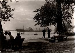!  Ansichtskarte Hamburg, Fotokarte V. Seggern, Elbuferweg, Elbe, Frachter, Schiff, Ship - Blankenese