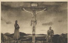 Eglise Protestante D' Auteuil La Crucifixion Fresque Editions Yvon Cliche Caillet Cachet Au Dos - Arrondissement: 16