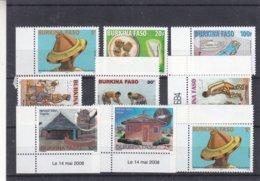 Burkina Faso - Petit Lot De Timbres ** - Médecine - Danses - Lutte - - Burkina Faso (1984-...)