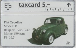 SUISSE - PHONE CARD - TAXCARD-PRIVÉE ***  FIAT TOPOLINO 1948 *** - Zwitserland