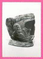 CPSM GM FRANCE 12  ~  RODEZ  ~  Musée Fenaillé - Masque Gallo-romain  ( Douziech Dentelée 50/60 ) - Rodez