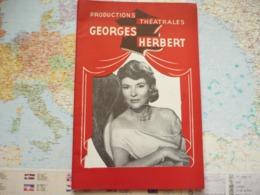 La Prétendaine De Jacques Deval Avec Sophie Desmarets...Productions Théatrales Georges Herbert - Programas