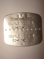 Plaque D'identification Militaire En Métal - Militaria