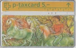 SUISSE - PHONE CARD - TAXCARD-PRIVÉE  *** SIMONE.ERNI & GROUPE DE CHEVAUX *** - Zwitserland