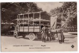 CROIX ROUGE * TROYES * AUBE * GUERRE 1914* SERVICE AMBULANCE AUTOMOBILE * BLESSES* 232 Trèfle - Croix-Rouge