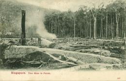 Straits Settlements, Malay Malaysia, PERAK, Tin Mine (1908) Postcard - Malaysia