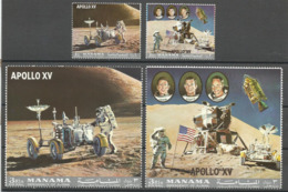 Ajman,Apollo XV 1972.,rare Set,MNH - Ajman