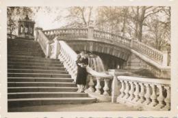 Snapshot Femme élégante Escalier Architecture Fourrure Chapeau Mode Vintage - Persone Anonimi