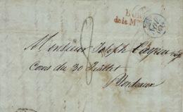 1834- Lettre Du BUREAU / De La Mon Du ROI  Rouge Pour Bordeaux - 1801-1848: Precursores XIX
