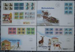 SUISSE Lot De 4 Enveloppes FDC 1989 2000 2001 Dont Blocs Timbres Chien Saint-bernard Dog Stamps Switzerland Covers - FDC