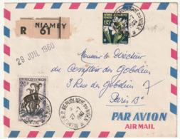 LETTRE Recommandée - NIGER - NIAMEY Le 27/07/1960 - - Niger (1960-...)
