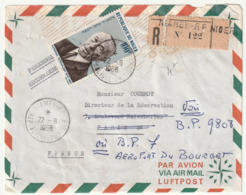 LETTRE Recommandée - NIGER - NIAMEY Le 22/08/1968 - Adenauer - - Niger (1960-...)