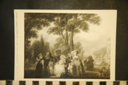 CP  PHOTOGRAPHIE Musée Cognacq -Jay  Watteau De Lille-Assemblée Dans Un Parc   Bulloz Photo - Photographs