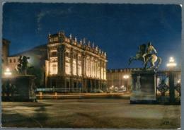 °°° Cartolina - Torino Di Notte Piazza Castello E Palazzo Madama Viaggiata °°° - Places