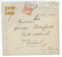 SUISSE - 1941 - TAXE ! - BANDE ENTIER POSTAL De GENEVE Avec COMPLEMENT => POSTE RESTANTE ST RAPHAËL (VAR) - Stamped Stationery