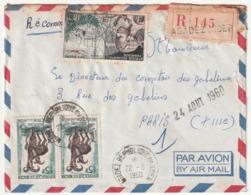 LETTRE Recommandée - NIGER - AGADEZ Le 22/08/1960 - - Niger (1960-...)