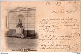 PARIS VAL DE GRACE ECOLE D'APPLICATION DU SERVICE DE SANTE MILITAIRE COUR BROUSSAIS PRECURSEUR 1901 TBE - Educazione, Scuole E Università