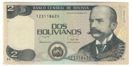 BOLIVIA2BOLIVIANOS28/11/1986P202UNC1990 - Series B - 202B.CV. - Bolivia
