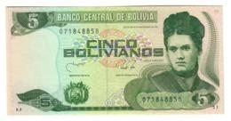 BOLIVIA5BOLIVIANOS28/11/1986P203UNC1990 - Series B - 203B.CV. - Bolivia