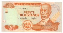 BOLIVIA20BOLIVIANOS28/11/1986P224UNC2001 - Series F.CV. - Bolivia