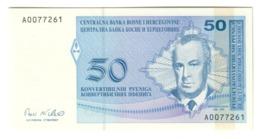 BOSNIA50PFENNIGA1998P57UNCLow S/N A00.CV. - Bosnia Erzegovina