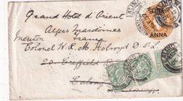 INDE 1907    ENTIER POSTAL/GANZSACHE/POSTAL STATIONERY  LETTRE POUR MENTON - India (...-1947)