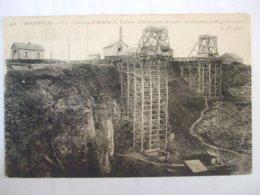 SDV1019- 49 - ANGERS - CARRIERES D'ARDOISES DE TRELAZE - CHEVALEMENT DE PUITS SUR D'ANCIENS FONDS A CIEL OUVERT - - Angers