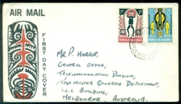 Papua New Guinea 1966 Airmail FDC Myths Of Elema People Michel 95 And 96 - Papouasie-Nouvelle-Guinée