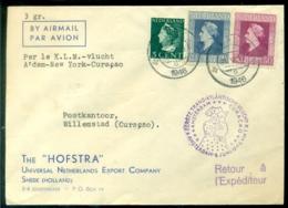 Nederland 1946 Eerste Vlucht Amsterdam-New York-Curaçao VH A 243c - 1891-1948 (Wilhelmine)
