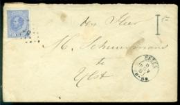 Nederland 1881 Brief Van Sneek Naar IJlst - 1852-1890 (Wilhelm III.)