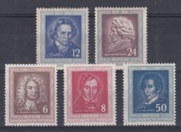DDR Kleine Verzameling 1952 Nr 52/53 & 60/62 **, Zeer Mooi Lot Krt 4177 - Colecciones (sin álbumes)