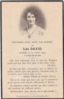 Généalogie - Faire-part De Décés - Carte Mortuaire : Mme - L. DAVID : - 1935 - - Décès