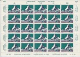 Feuille Complète Le Cervin (Matterhorn) N° 433 ** Avec Variété (Abart) 433.2.01. Gomme Intégrale - Svizzera
