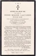 Généalogie - Faire-part De Décés - Carte Mortuaire : Mme - R. M. LAUGIER - Née Doze : - 1885 - - Décès