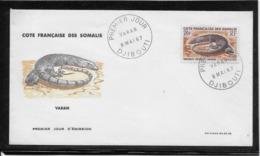 Thème Animaux - Varan - Côte Des Somalis - Enveloppe - Reptiles & Amphibians