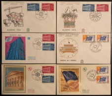 France - FDC - Premier Jour - Lot De 6 FDC - Thématique Europa - 1969 - FDC