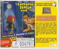 BIGLIETTO LOTTERIA ITALIA  2018 - Biglietti Della Lotteria