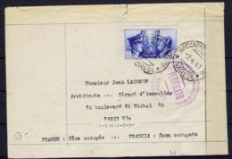 Italy: Cover Varese -> Francia Zona Occupata , Paris 1941 Sa 457 Double Censored - Storia Postale
