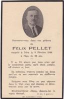 Généalogie - Faire-part De Décés - Carte Mortuaire : F.  PELLET : - 1944- - Décès