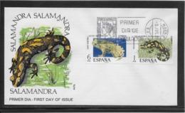 Thème Animaux - Grenouille, Salamandre - Espagne - Enveloppe - Grenouilles