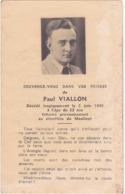 Généalogie - Faire-part De Décés - Carte Mortuaire : P. VIALLON : - 5/06/1945 - Moulinot - Décès