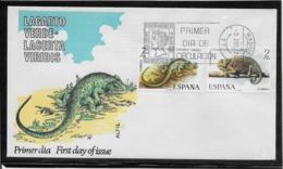 Thème Animaux - Lézard - Espagne - Enveloppe - Grenouilles