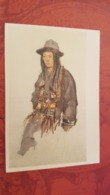 China. Tibet. Native People  - Young  Woman - Old Postcard 1950s - Tibet