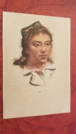 China. Tibet. Native People  - Uighur Woman - Old Postcard 1950s - Tibet