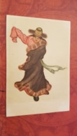 China. Tibet. Native People  - Folk Dance - Old Postcard 1950s - Tibet
