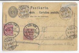 1895 - MIXTE REICH / WÜRTTEMBERG / SUISSE !!! Sur CARTE ENTIER De BASEL => BERLIN - Briefe U. Dokumente
