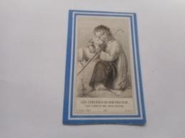 D.P.-DEUX PETITS ANGES-JOSEPH ET MAURICE FOCKENIER +BRUGES 20-1-1891-7 SEMAINES - Religione & Esoterismo