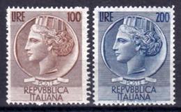 Italia Repubblica 1954 Turrita Grande Formato Nuovi Integri Firmati - 6. 1946-.. Republic
