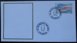 B085 Cachet Temporaire Bernières Sur Mer 14 Calvados Anniversaire Du Débarquement 6 Juin 1994 - Storia Postale
